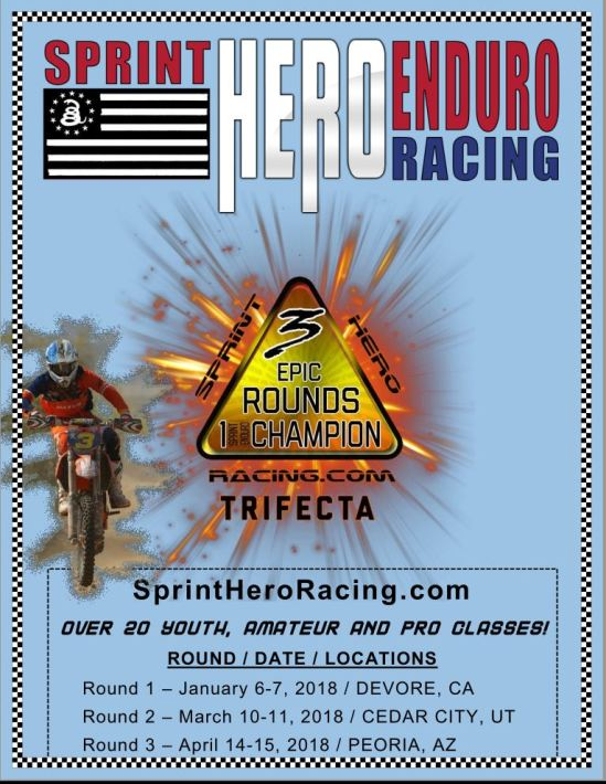 2018 Sprint Hero Enduro Racing Series Schedule