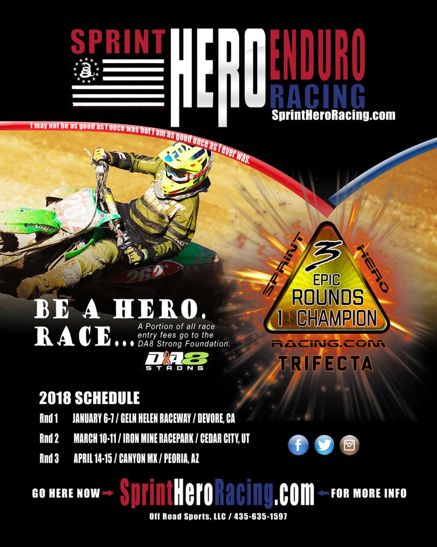 20118 SPRINT HERO RACING SCHEDULE. BE A HERO. RACE