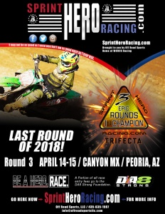 SPRINT HERO RACING - ROUND 3 - CANYON MX FLYER