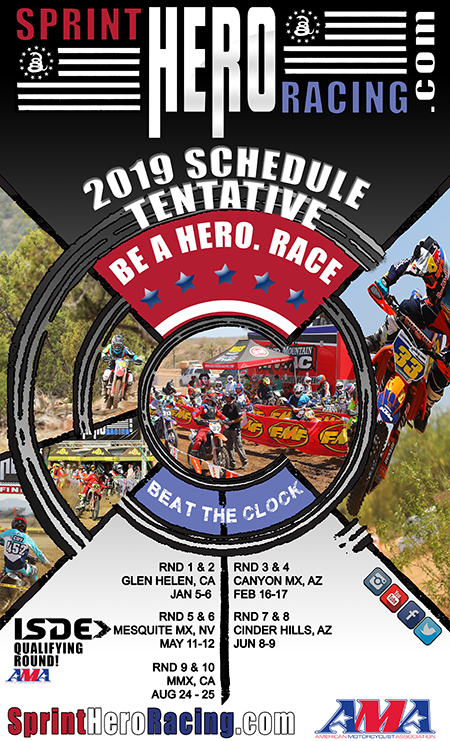 2019 Sprint Hero Tentative Schedule